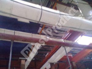 Производственное помещение, монтаж воздуховодов вентиляции
