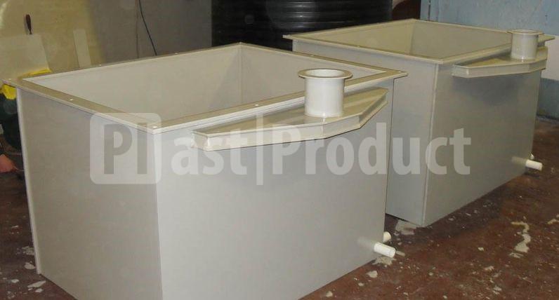 Две гальванические ванны из пластика