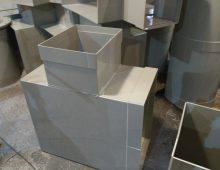 Тройники прямоугольного сечения для воздуховода