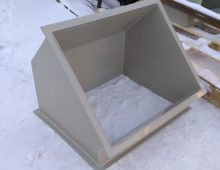 Прямоугольный отвод из пластика 45 градусов
