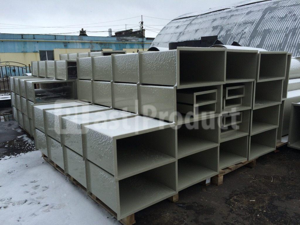 Прямоугольные пластиковые короба для вентиляции