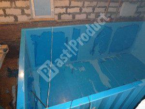 Пластиковый бассейн для дачи из полипропилена