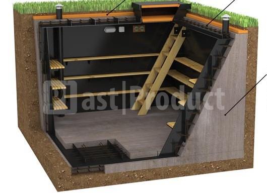 Полки в подвале