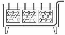 Расположение подвесок деталей для гальванических процессов