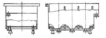 Гальваническая ванная с нижним изливом