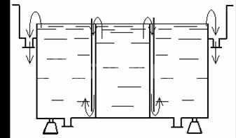 Двухкаскадная трехкамерная гальваническая ванна
