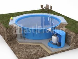 Круглый бассейн