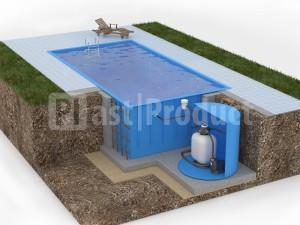 Прямоугольный бассейн