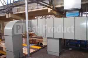 Прямоугольные короба вентиляции в промышленном цеху