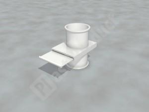 Шибер для круглой вентиляции
