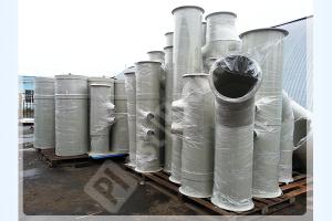 Склад круглых пластиковых воздуховодов