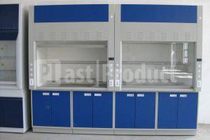 Вытяжной шкаф с синими дверками