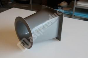 Вид сбоку элемента воздуховода из PPs