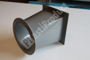 Вид сбоку элемента воздуховода из PPs фото 2