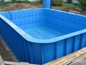 Монтаж пластикового бассейна чаша полипропиленовая