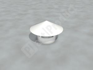 Зонт круглый серый