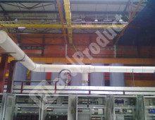 Монтаж воздуховодов промышленной вентиляции в цеху