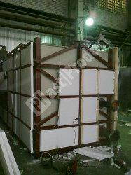 Пластиковые емкости прямоугольные в металлическом каркасе