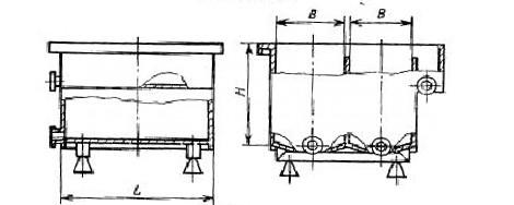Двухкамерная ванна с боковым изливом
