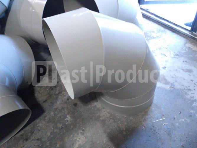 Отвод круглый из пластика 95 градусов