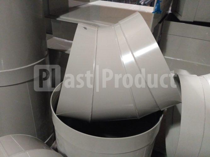 Круглый отвод из пластика 45 градусов фото
