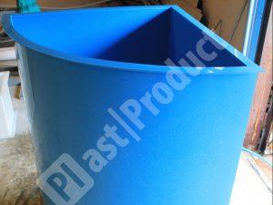 Бассейн угловой из пластика (полипропиленовый)