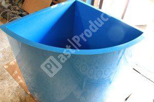 Угловая купель из полипропилена для бани