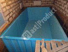 Прямоугольная чаша бассейна пластикового установка