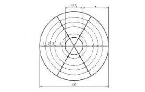 Расположение-точек-измерения-в-круглом-воздуховоде