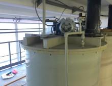 Реактор из полипропилена с мешалкой