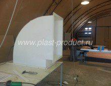 Отвод пластиковый, для прямоугольной вентиляции