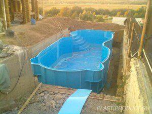 Морозоустойчивый полипропиленовый бассейн произвольной формы